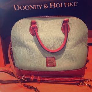 Dooney & Bourke Mint Leather Satchel